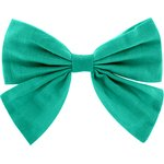 Bow tie hair slide green laurel - PPMC