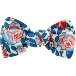 Barrette petit noeud london fleuri - PPMC