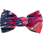 Small bow hair slide tropical fire - PPMC