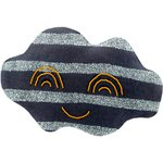 Cloud hair-clips striped silver dark blue - PPMC