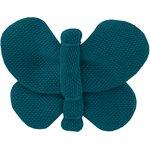 Barrette petit papillon bleu vert - PPMC