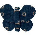 Barrette petit papillon bulle bronze marine - PPMC