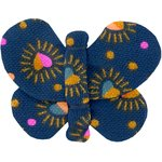 Barrette petit papillon  coeur scintillants - PPMC