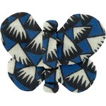 Butterfly hair clip parts blue night - PPMC