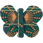 Barrette petit papillon eventail or vert - PPMC