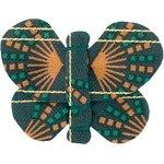 Pasadores de mariposa eventail or vert - PPMC