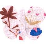 Barrette petit papillon herbier rose - PPMC