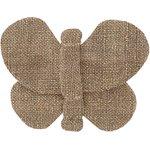 Barrette petit papillon lin or - PPMC