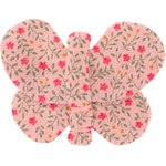 Butterfly hair clip mini pink flower - PPMC