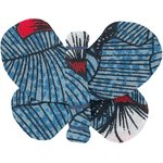 Butterfly hair clip flowered night - PPMC