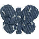 Butterfly hair clip silver straw jeans - PPMC