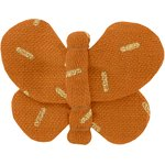 Butterfly hair clip caramel golden straw - PPMC