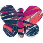 Barrette petit papillon tropical fire - PPMC