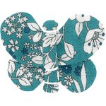 Butterfly hair clip celadon violette - PPMC
