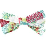 Ribbon bow hair slide powdered  dahlia - PPMC