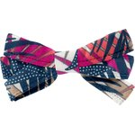 Ribbon bow hair slide tropical fire - PPMC