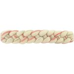 Plait hair slide silver pink striped - PPMC
