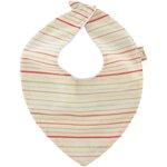 bandana bib silver pink striped - PPMC