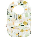 Bib - Baby size water green rabbit - PPMC