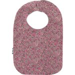 Bavoir Bébé lichen prune rose - PPMC
