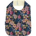 Bib - Child size pink blue dalhia - PPMC
