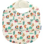 Coated fabric bib carnaval d'eléphants - PPMC