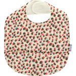 Coated fabric bib confetti aqua - PPMC
