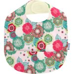Coated fabric bib powdered  dahlia - PPMC