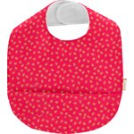 Coated fabric bib feuillage or rose - PPMC