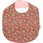 Coated fabric bib peach flower - PPMC