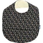 Coated fabric bib  hedgehog - PPMC