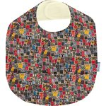 Coated fabric bib multi letters - PPMC