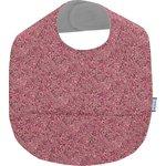 Bavoir tissu plastifié lichen prune rose - PPMC