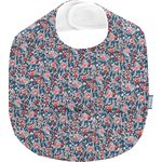 Coated fabric bib flowered london - PPMC