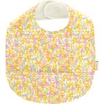Coated fabric bib mimosa jaune rose - PPMC