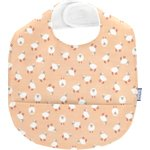 Coated fabric bib pink sheep - PPMC