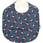 Coated fabric bib flowered night - PPMC
