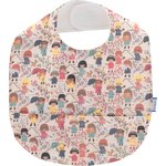 Coated fabric bib petites filles pop - PPMC