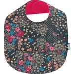 Coated fabric bib silvery rose - PPMC