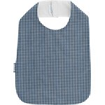 Bib - Child size navy blue gingham - PPMC