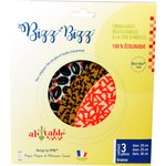 Lot de 3 bee wrap Bizz-bizz® ronds graines - PPMC