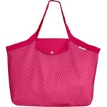 Tote bag with a zip etoile or fuchsia - PPMC
