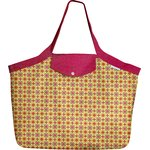Tote bag with a zip pop flower - PPMC