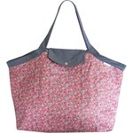 Tote bag with a zip paprika mini flower - PPMC