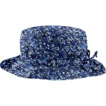 Rain hat adjustable-size 2  blue night flowers - PPMC