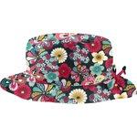 Chapeau pluie ajustable T2  fleurs du mékong - PPMC