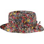 Rain hat adjustable-size 2  multi letters - PPMC