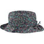 Chapeau pluie ajustable T2  milli fleurs vert azur - PPMC