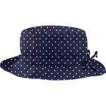 sombrero de lluvia ajustable T2  lunares azul marino - PPMC