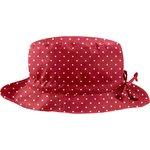 Chapeau pluie ajustable T2  pois rouge - PPMC